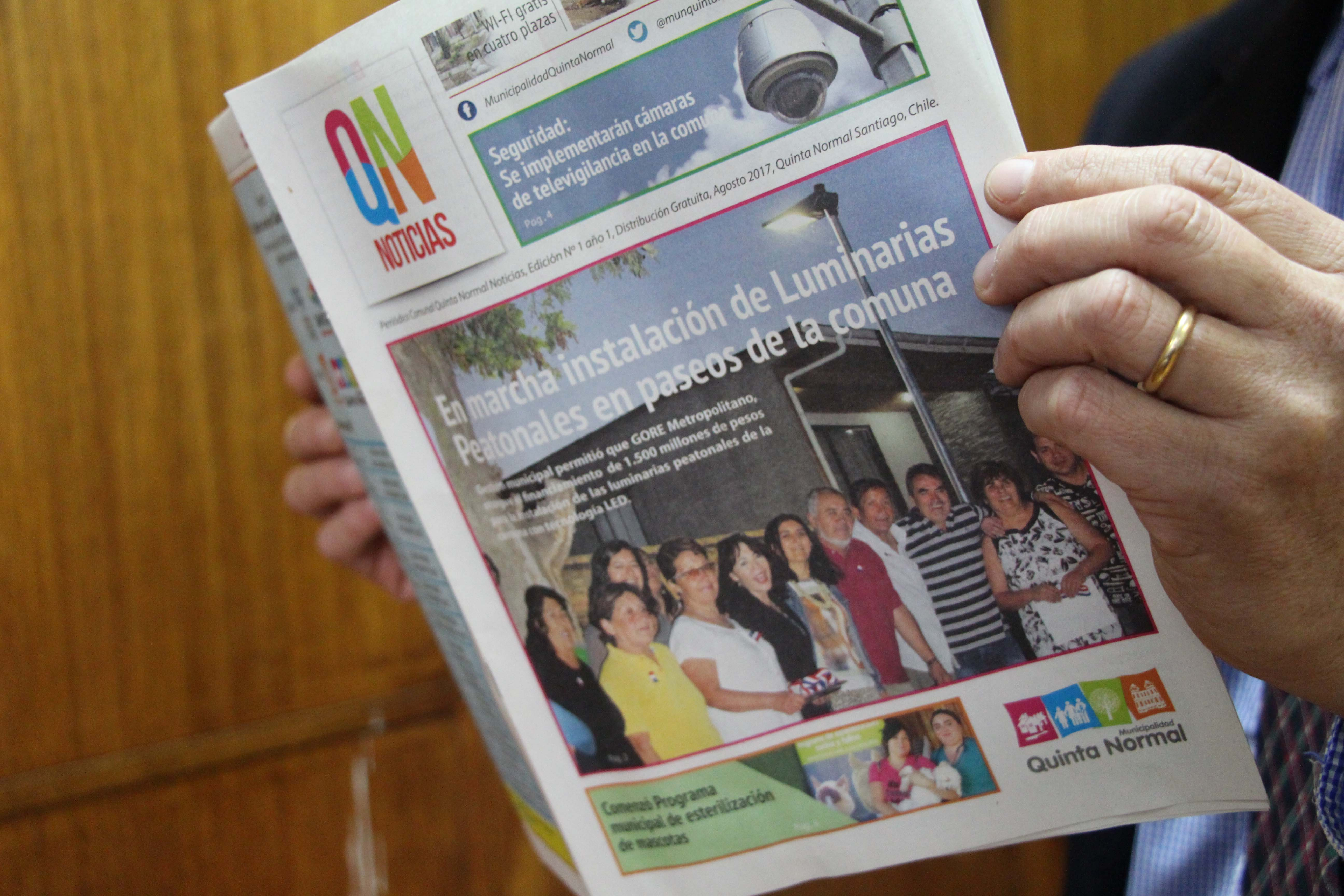 Conozca la nueva revista municipal: Quinta Normal Noticias