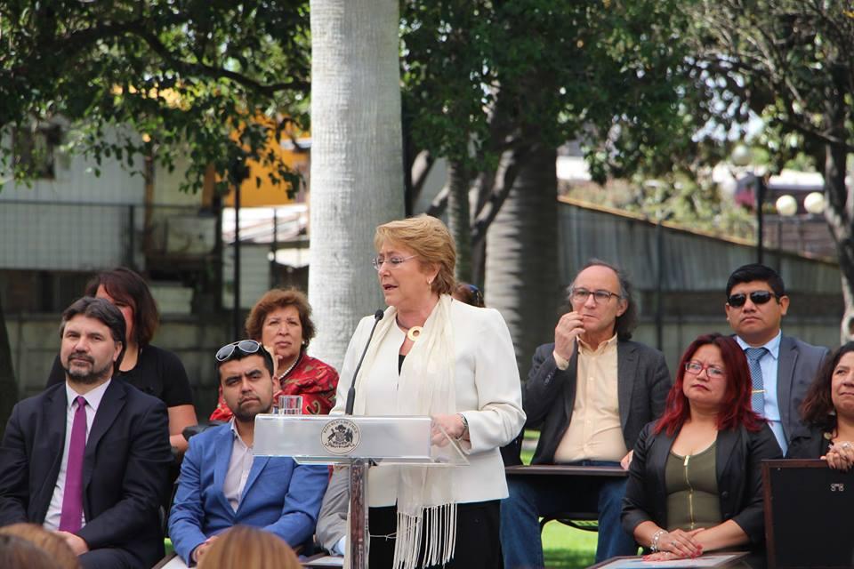 Presidenta Bachelet entrega Fondo de Seguridad Pública. Unidad Vecinal 14 fue una de las beneficiadas