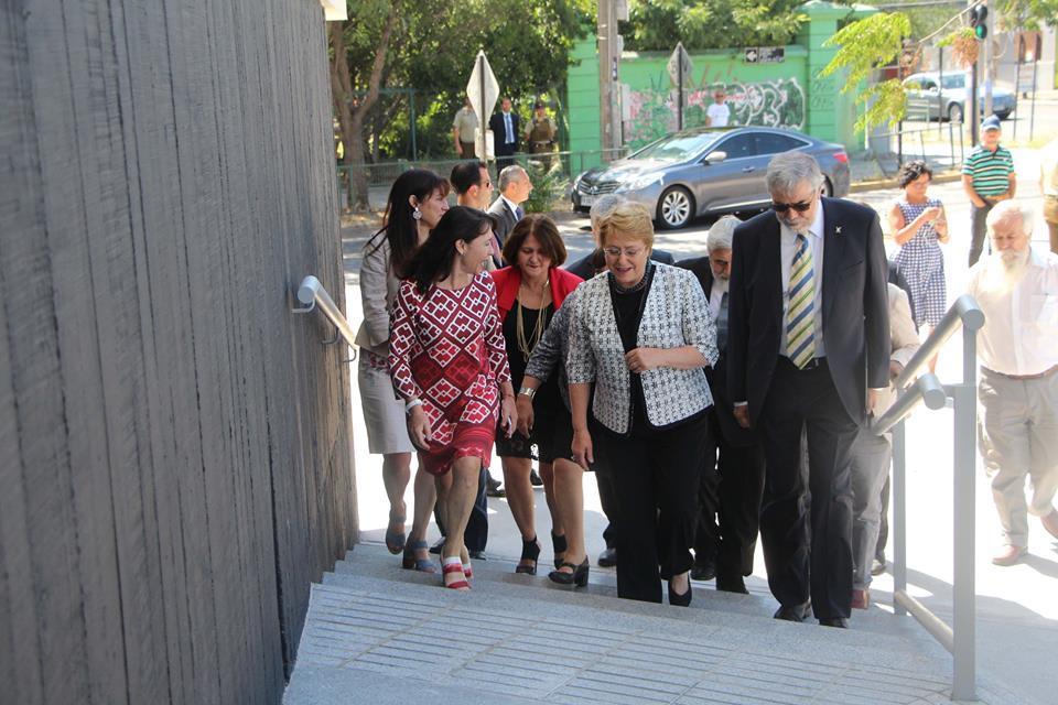Presidenta y Alcaldesa participan en inauguración y traspaso a la Usach del Liceo Experimental Artístico