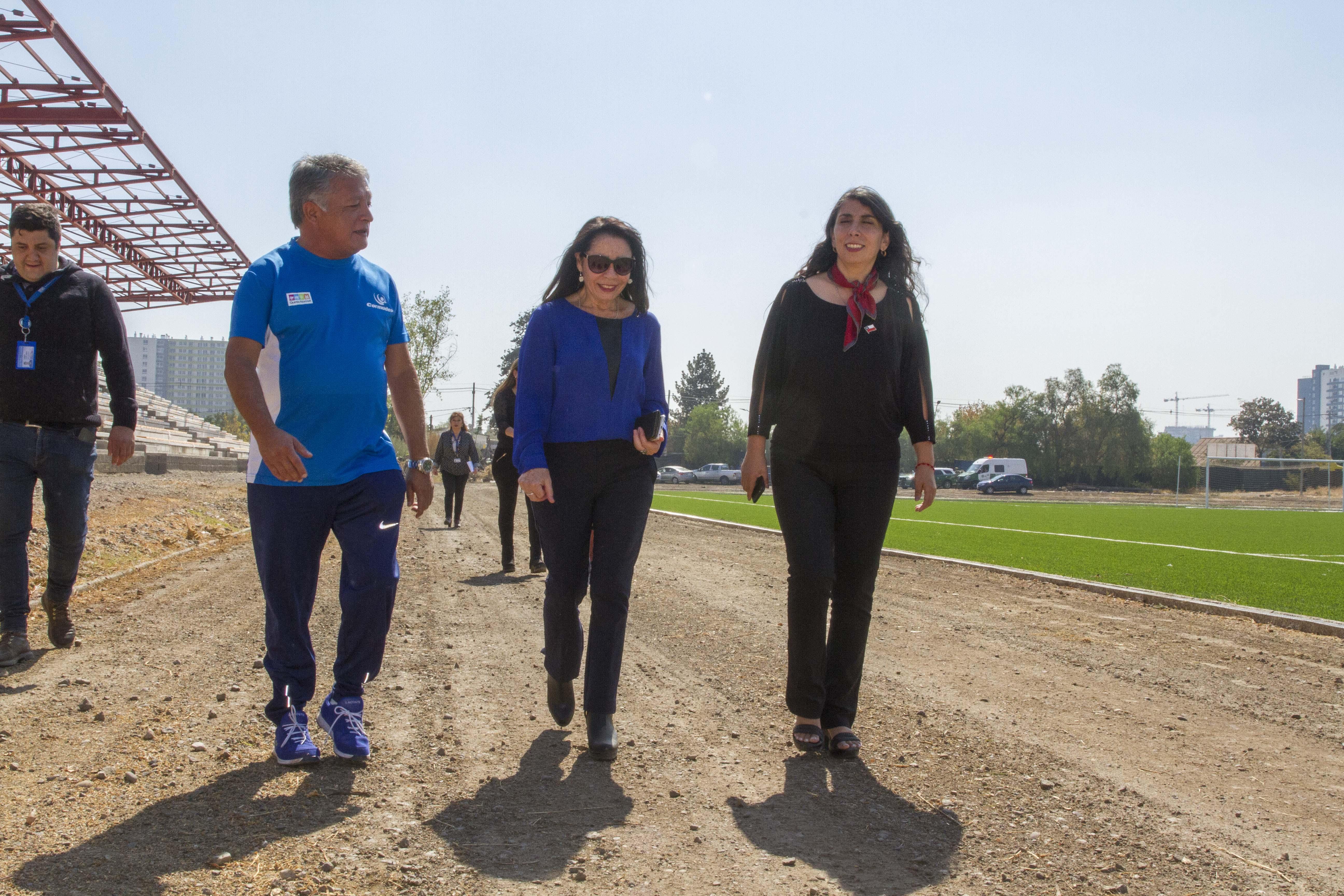 Intendenta y Alcaldesa recorren proyectos de infraestructura local