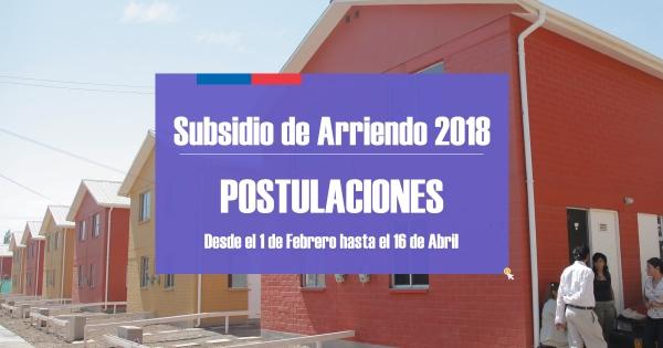 Recuerde: El 16 de abril vence el 1° llamado a postulación Subsidio de Arriendo