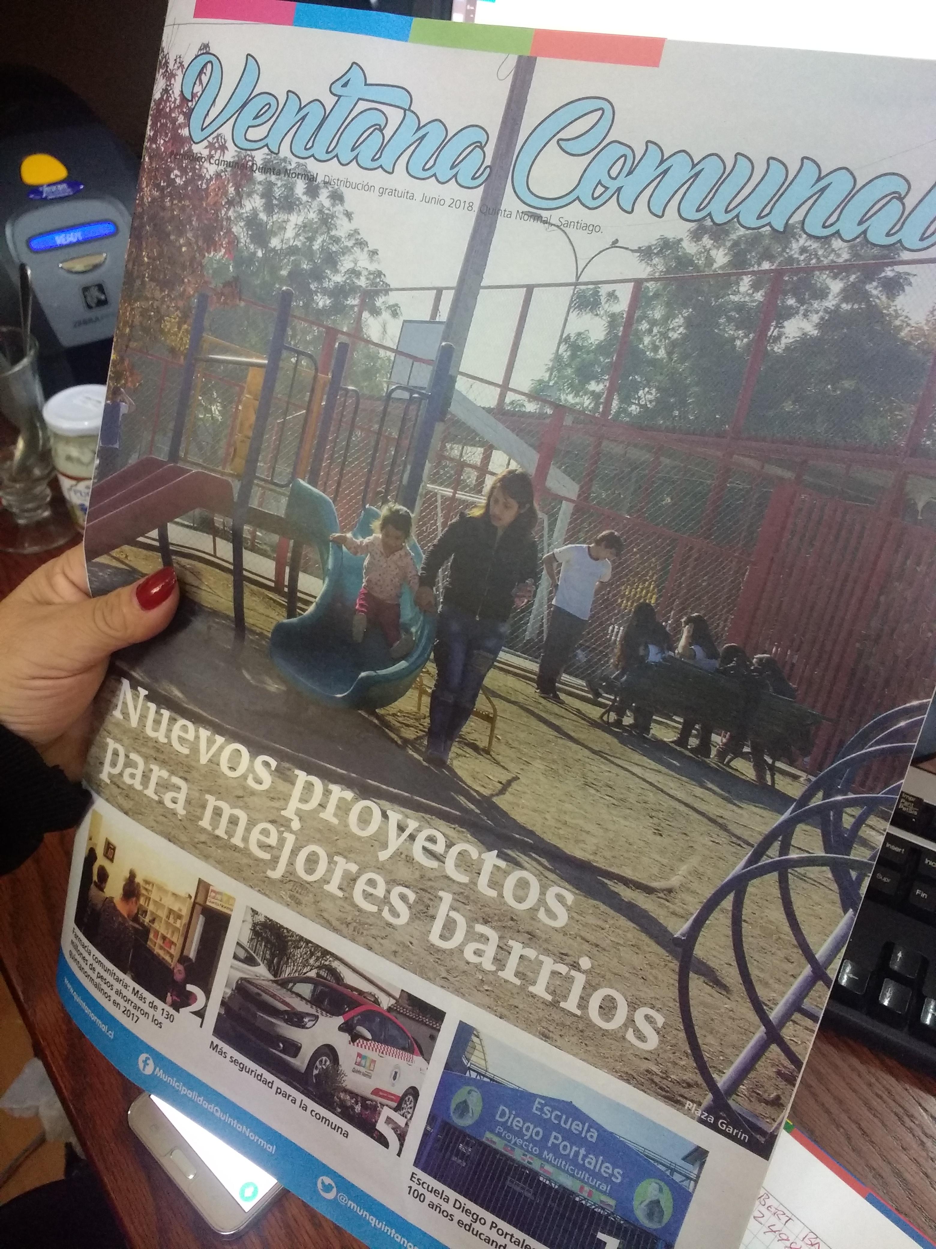 Ya está en circulación Ventana Comunal, el periódico de Quinta Normal