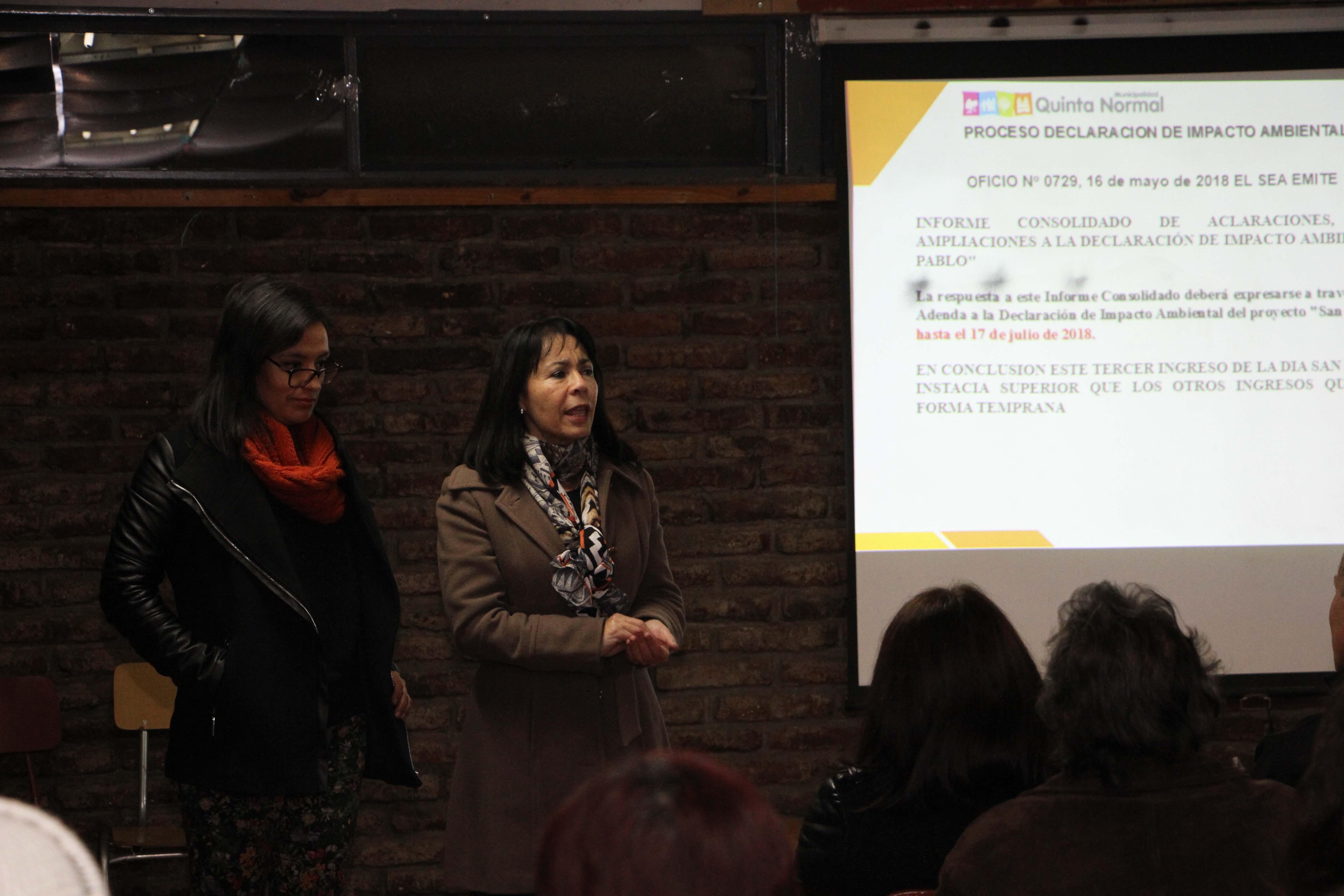 Alcaldesa llama a vecinos a apoyar acciones para evitar el proyecto San Pablo