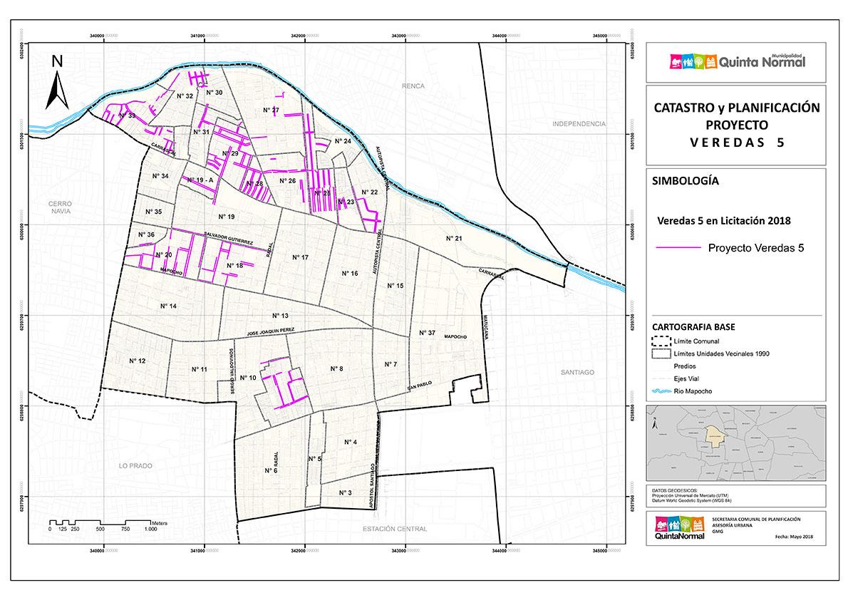 En el sector norte de la comuna, comienza proyecto de reposición de veredas 5