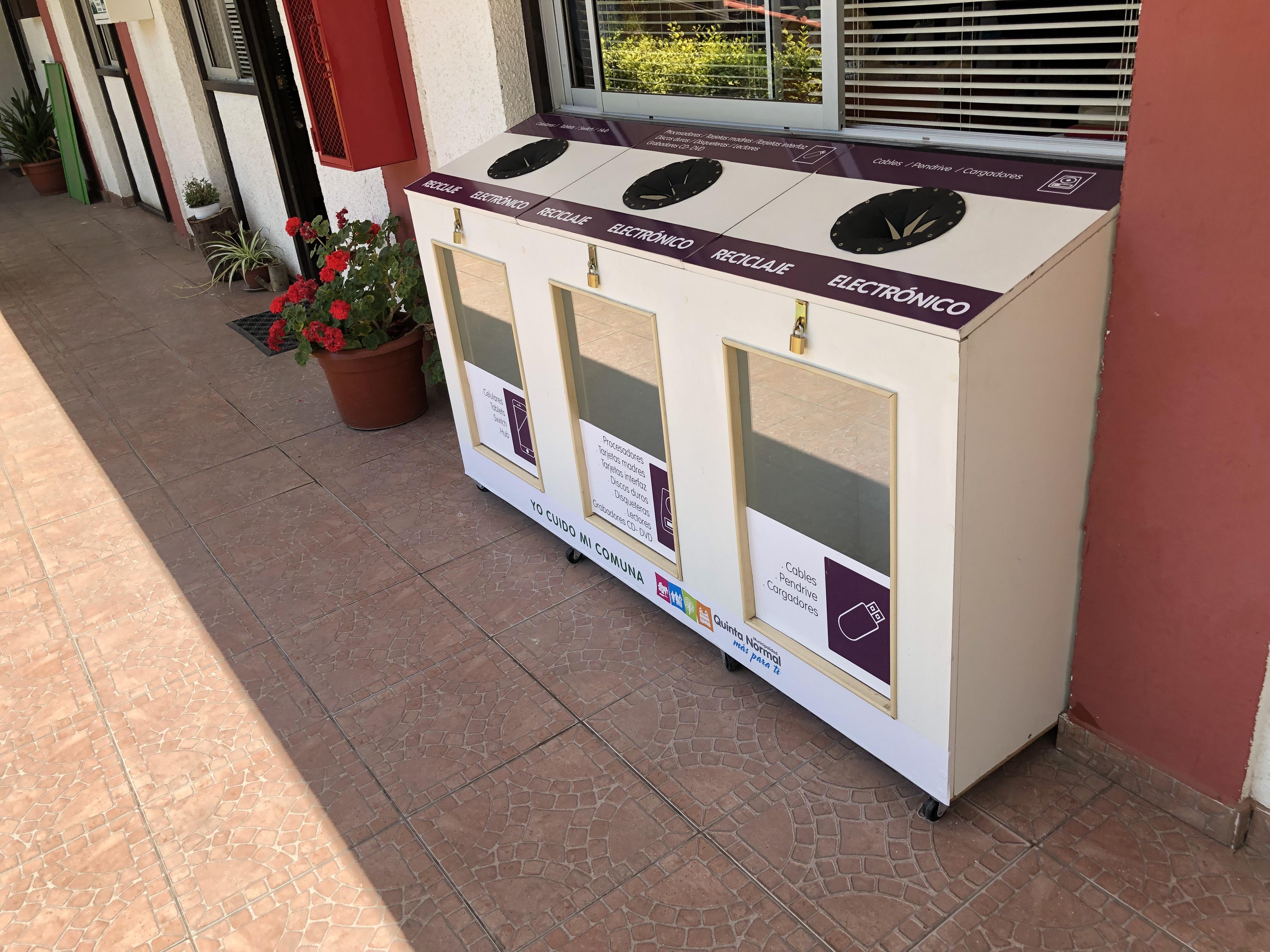 Municipio instala punto de reciclaje electrónico