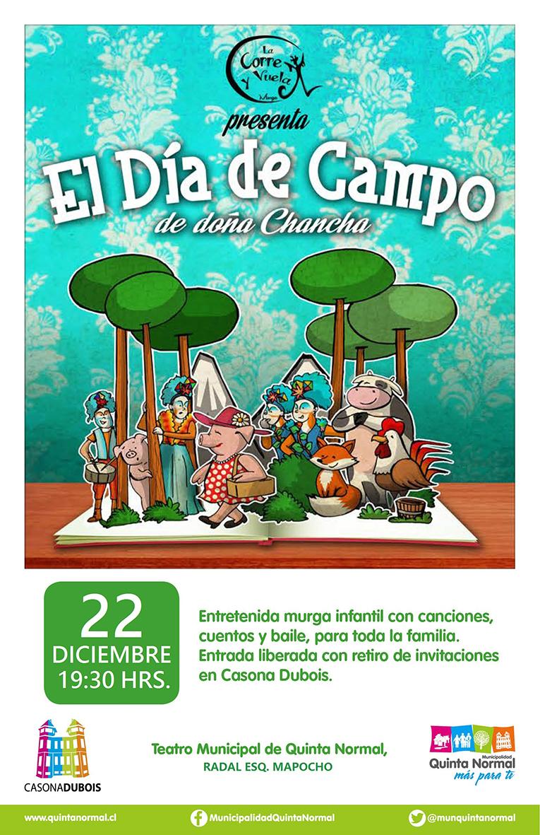 Obra «El Día de Campo de Doña Chancha» sábado 22 de diciembre, 19:30 hrs.