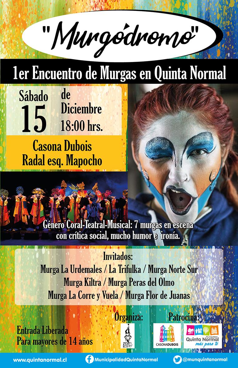 1er Encuentro de Murgas en Quinta Normal, sábado 15 de diciembre, 18:00 hrs.