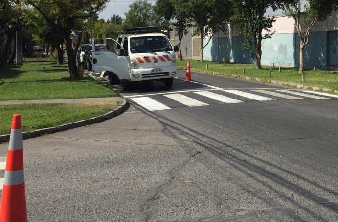 Demarcación mejora las calles de la comuna