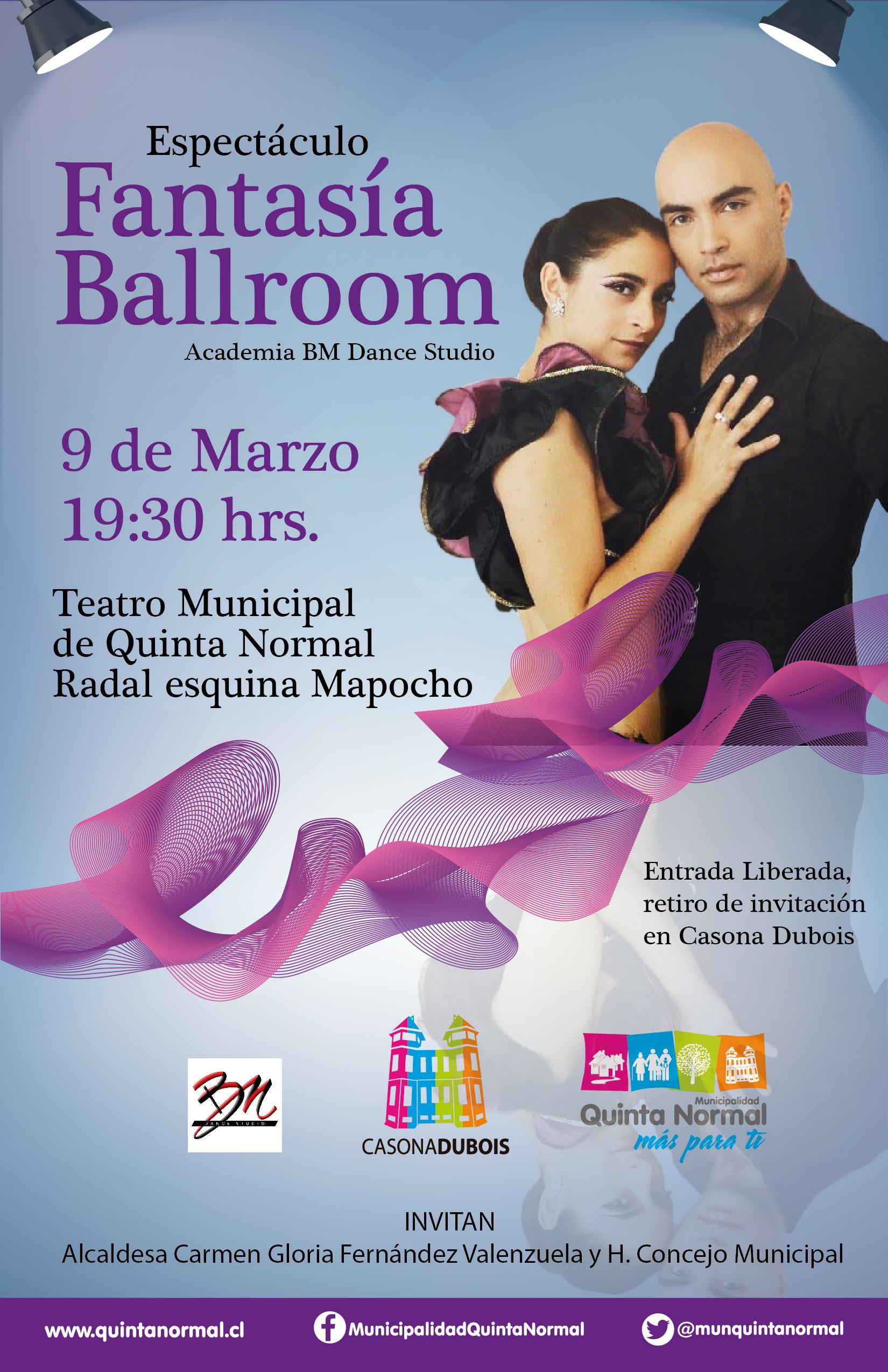 Espectáculo de Ballroom, 9 de marzo, 19:30 hrs.