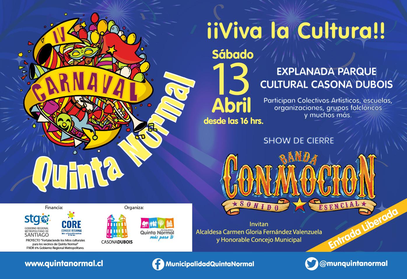 Participa del IV Carnaval de Quinta Normal