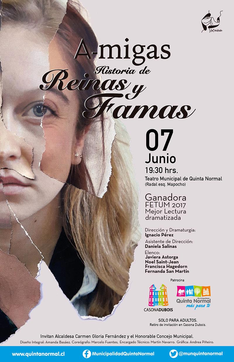 A-migas, historia de Reinas y Famas, 7 de junio, 19:30 hrs.
