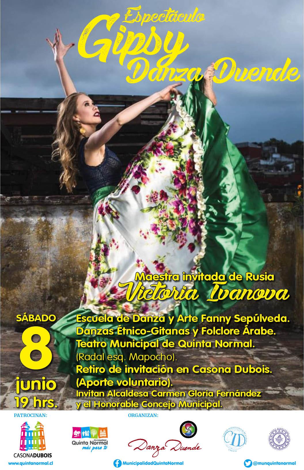 Espectáculo Gipsy Danza Duende, 8 de junio, 19:00 hrs.