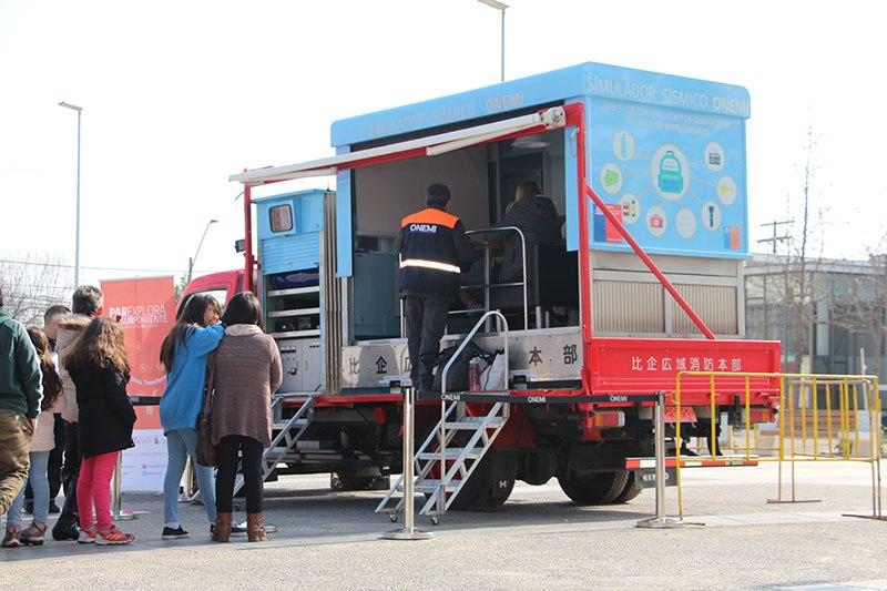 Camión Sísmico visitó Quinta Normal