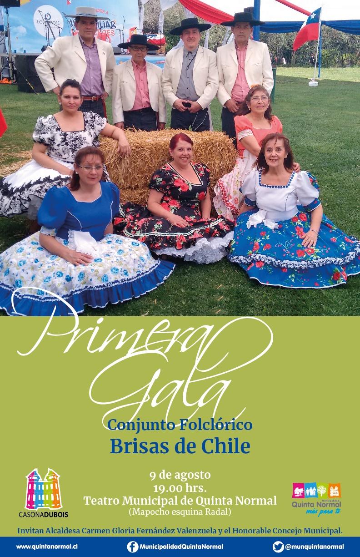 Gala Brisas de Chile. Viernes 9 de agosto, 19 hrs.
