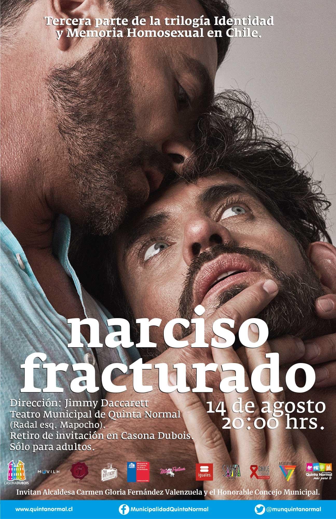 Narciso Fracturado. Miércoles 14 de Agosto, 20 hrs.