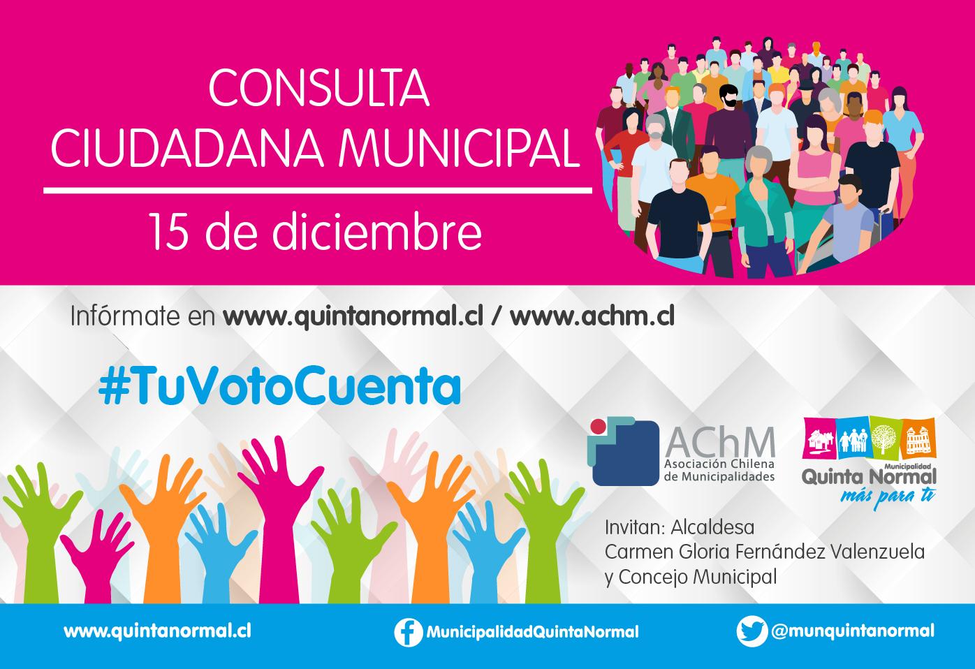 Quinta Normal se suma a la Consulta Ciudadana