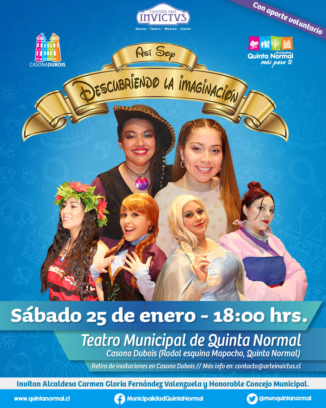Musical «Descubriendo la Imaginación». Sábado 25 de Enero, 18 hrs.