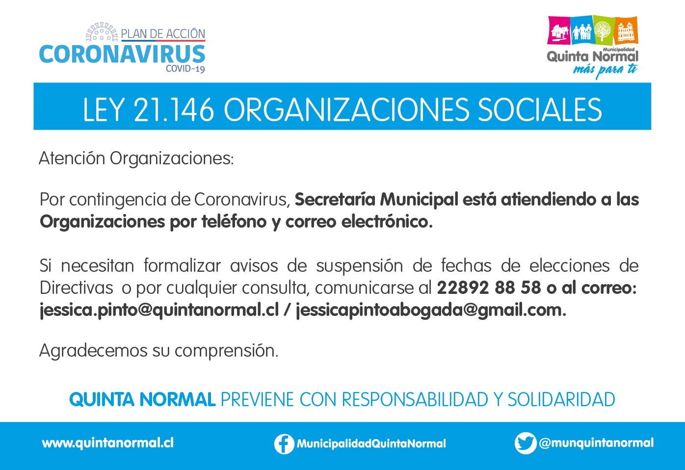 Atención Organizaciones Sociales