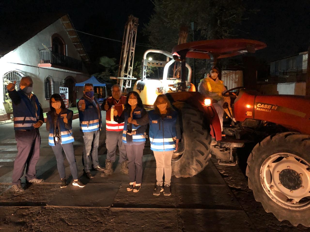 Municipio inicia sanitización de calles de toda la comuna
