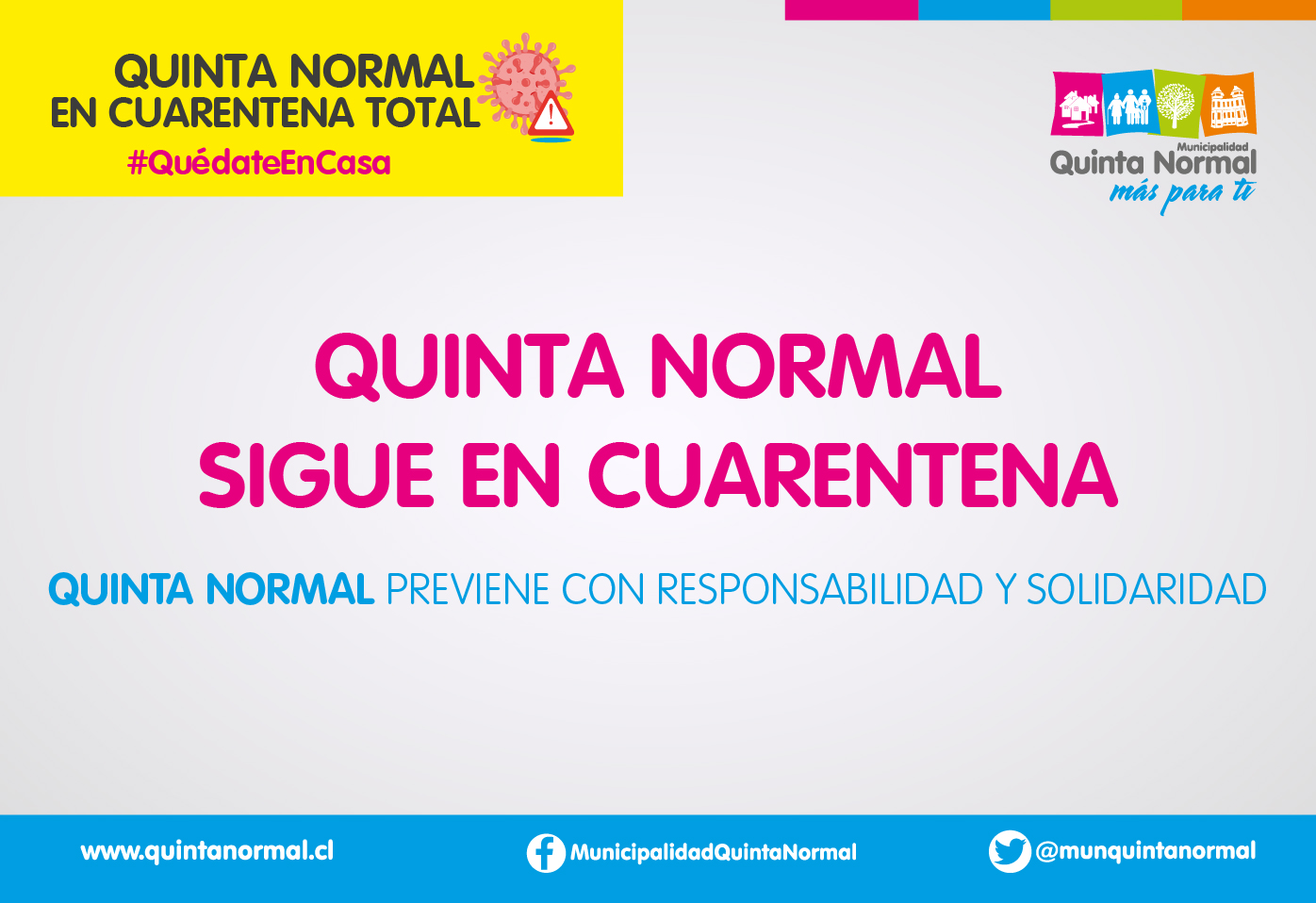 Quinta Normal sigue en Cuarentena