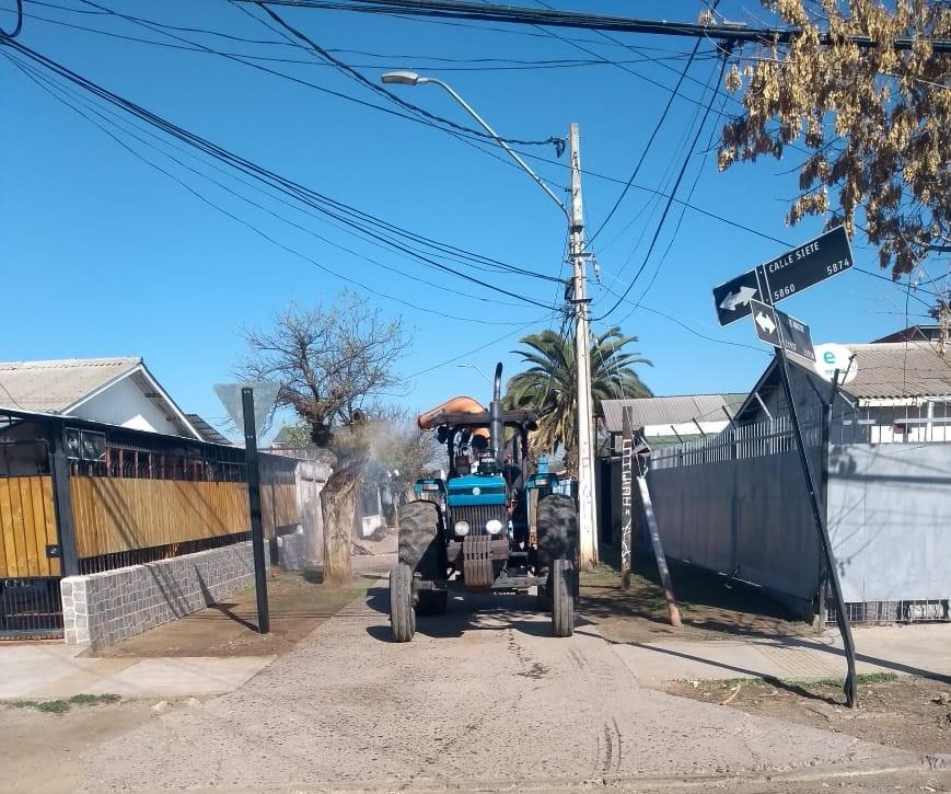 Sanitización de calles para prevenir el Coronavirus